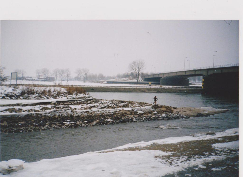 Roermond waar de Roer in de Maas uitmondt